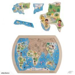 Beleduc One world knob puzzle