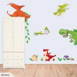 Dinosaurs wall sticker decoration renovation nursery boys favourite Educhoice