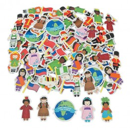 Eva stickers children of the world pack of 500