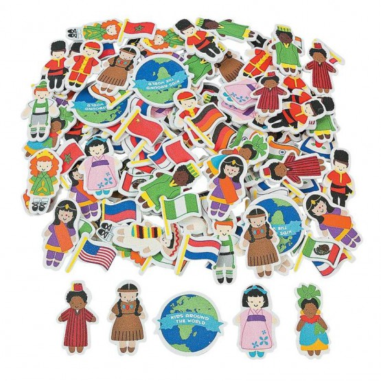 Eva stickers children of the world pack of 500