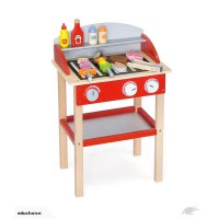 Wooden BBQ stand