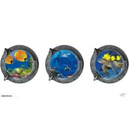 Sharks Sea creatures ocean life sumarine 3D wall stickers decal Educhoice
