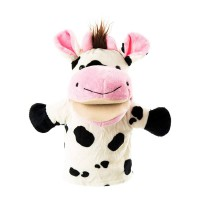 Open-mouth cow hand puppet