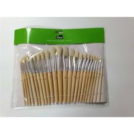 Flat/rounf stubby brush (24)