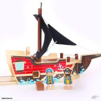 Wooden pirate ship 3D puzzle