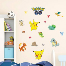 Pokemon wall sticker nursery room decoration background Educhoice