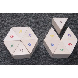 Matching the sound musical prisms set of 12