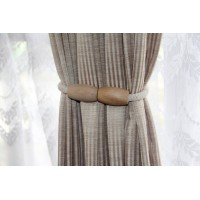 Wooden magnetic curtain rope