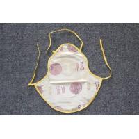 Children's golden Chinese silk apron vest DuDou